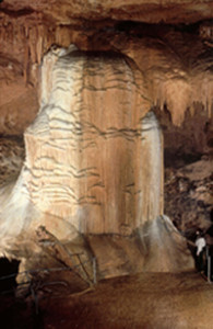 Cathedral Bell flowstone in Cathedral Cave